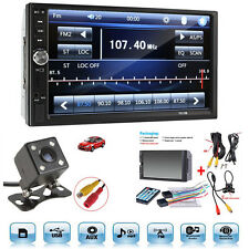 "7"" Touch Screen FM Bluetooth Radio Audio Stereo Car Player&HD Camera 12VUseful"