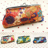 Vintage Lady Womens Floral Wallet Clutch Purse Long Handbag Coin Bag Card Holder