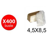 Glassine Bustine in carta pergamina bianco trasparente - 4,5X8,5 - 2 confezioni