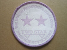 British Trampoline Federation Two Star Cloth Patch Badge (L2K)