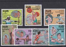 KAMPUCHEA 1987 JEUX OLYMPIQUES ETE SEOUL 7 TP  OBLITERE YT 712 A 718