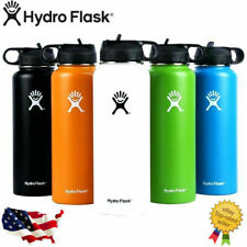 Hydro Flask Stainless Steel Water Bottle Thermos Icy Cold Straw Lid Drinking US