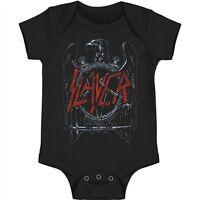 New Slayer Eagle Logo Pentagram Baby Romper One Piece 6-24 Months badhabitmerch