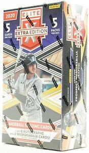 2020 Panini Elite Extra Edition MLB Baseball cards Hobby Box (8 auto, 2 jersey)!