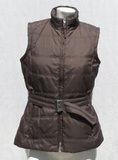 BOGNER JEANS Women's Brown Quilted Belted Vest Jacket Top size 38 8 Logo Pulls