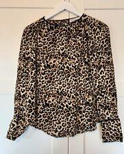 Zara Leopard Print Shirt Blouse Top M Medium