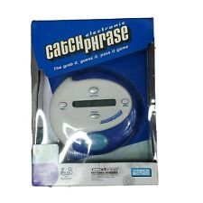 NEW Catch Phrase Electronic Games 2nd Edition 2004 Blue Hasbro Adult Game