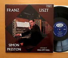 RG 503 Franz Liszt Organ Simon Preston Hull City Hall 1967 Argo ED1 Mono Oval EX