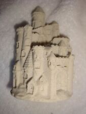 "Unique Glittering Intricate Sand Castle Shore Figurine Sandlike Finish 5""x 3"""