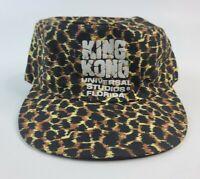 Vintage King Kong Universal Studios Leopard Print Hat Snapback RARE made in USA