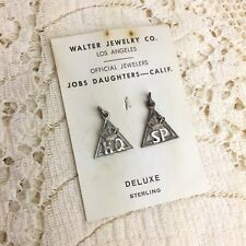 Vintage Jobs Daughters Sterling Charms Honored Queen Senior Princess Masonic 925