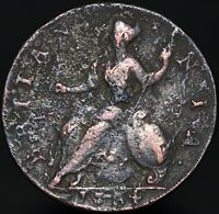 1754 | George II Half-Penny | Copper | Coins | KM Coins
