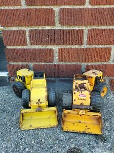 """Lot of (2) Vintage Tonka Front Loader Toy Steel Approx 11x4"""" T6 USA"""