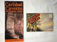 Carlsbad Caverns National Park Guide and postcard booklet vintage 1947