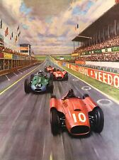ART PRINT POSTER RACE CAR RACING AUTOMOBILE TRACK PAINTING NOFL1034