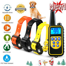 Dog Shock Training Collar Rechargeable Control Waterproof IP67 875 Yards + Gifts