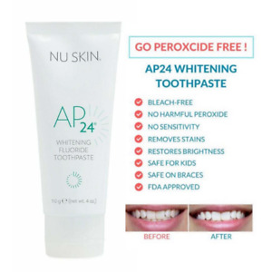 100% NUSKIN® AP24 Teeth Whitening Fluoride Toothpaste 110g New Look No Peroxide