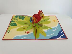3d Popup Parrot Card