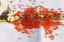 11/0 Old Time Vintage Venetian Silver Lined Orange #1 Seed Beads/1oz