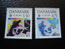 DANEMARK timbre yvert et tellier n° 1004 1005 nsg (A4) stamp denmark