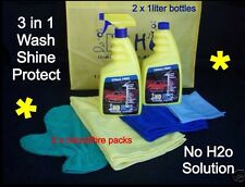 No H2o Waterless Car Wash & Microfibre Packs - Extra Value Pack
