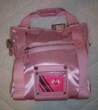 NWT Juicy Couture NARDELS Satin Large Tote Bag PINK