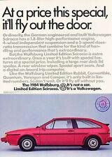 1984 Volkswagen Wolfsburg VW - Classic Vintage Advertisement Ad D61