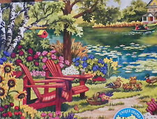 .PUZZLE.JIGSAW....WERNERSBACH.....Garden By The Lake......750pc