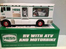 HESS HOLIDAY TOY TRUCK 2018 RV WITH ATV AND MOTORBIKE  NIB