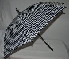 """ALABAMA CRIMSON TIDE Black White HOUNDSTOOTH 46"""" Wide Umbrella Large Golf"""