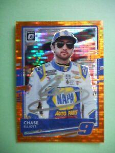 Chase Elliott Hand signed 2021 DONRUSS OPTIC ORANGE PULSAR PRIZM Nascar Card #30