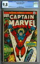 CAPTAIN MARVEL #29 CGC 9.8 OW PAGES // THANOS + DRAX CAMEO 1973