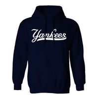 New York Yankees Wordmark Hoodie Hooded Sweat Shirt NY NYC Sweatshirt Sweater