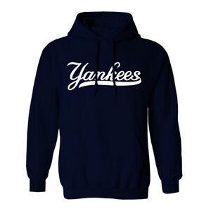New York Yankees Wordmark Hoodie Hooded Sweat Shirt NY NYC Sweatshirt Sweater