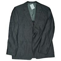 J Philipp Herren Leinen Sakko Blazer Jacke Business Anzug Gr. 58 XL XXL Grau TOP