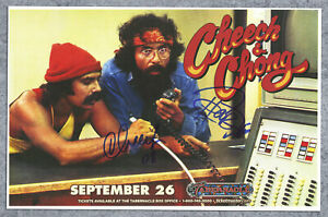 Cheech & Chong autographed gig poster Tommy Chong and Cheech Marin, Up In Smoke