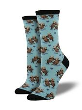 Blue Otter Socks Ladies Girls Cute Otters Christmas Secret Santa Gift Socksmith