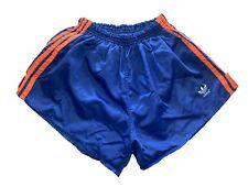 adidas 80s vintage Shorts D8 XL Sporthose shiny Nylon Sprinter blau orange CS2