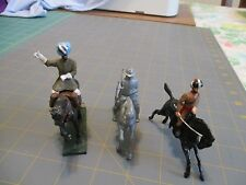 LOT OF 3 54MM  MOUNTED  BRITAINS TYPE BRITISH INDIAN ARMY SOLDIERS 2 PAINTED,