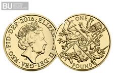 2016 UK 'Last 'Round Pound' CERTIFIED BU £1 [Ref 406F]