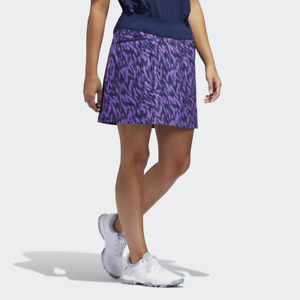 New ADIDAS Ultimate Women's Purple  / Blue Printed Sport Golf Skort Size: M