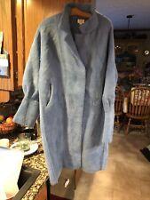 Anthropologie Six Crisp Days Jasta Long Blue Coat M/L