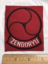 Zendoryu Karate Zendo-ryu Red + Black Martial Arts Patch