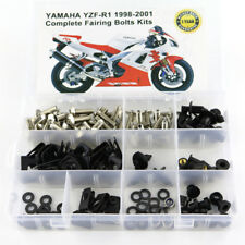 For Yamaha YZF R1 1998-2001 2000 Steel Fairing Bolts Screws Fasteners Kit Silver