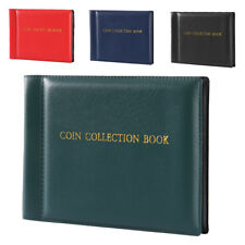 Collecting 60 Coin Collection Storage Holder Money Penny Album Book Pockets CA