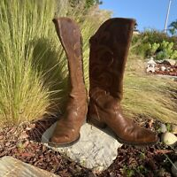 ARIAT Women's Brown Leather Boots Size 7.5B Western Cowboy Style #10014111