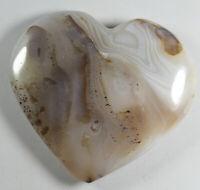 139g Natural Banded Carnelian aquatic plant  Agate Crystal Heart shape