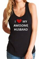 Tank Top I Love My Awesome Husband T Shirt Anniversary Gift Idea Cupid T-Shirt