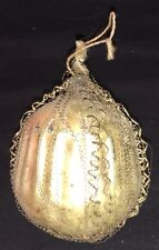 Antique Victorian Glass Ornament - Wire Wrapped & Fluted Sides