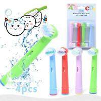 4pcs/set Kids Children Tooth Brush Replacement Toothbrush Heads for Braun Oral B